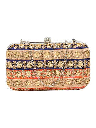 Multicolored Handcrafted Silk Clutch