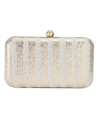Gold Handcrafted Silk Clutch