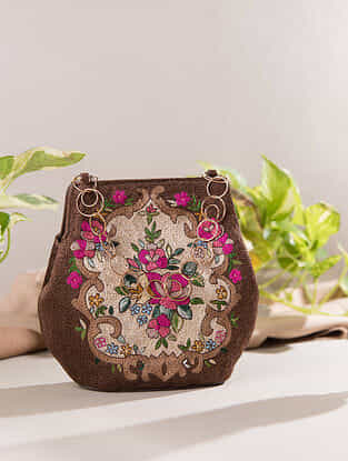 Brown Handcrafted Genuine Leather Hand Bag