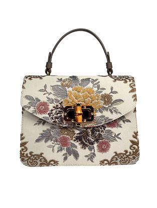 Ivory Handcrafted Genuine Leather Hand Bag