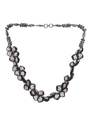 Smoky Topaz Beaded Silver Necklace
