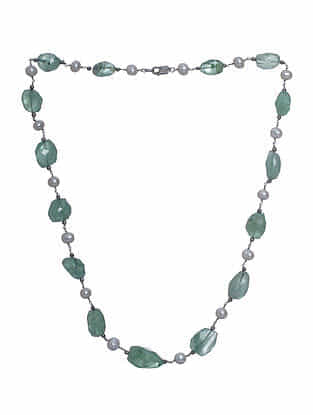Fluorite Beaded Silver Necklace