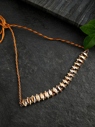 Gold Tone Handcrafted Choker Necklace