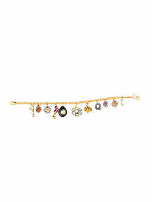 Multicolored Gold Plated Silver Bracelet