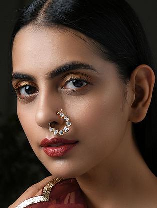 Gold Tone Kundan Nose Pin