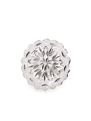 Classic Silver Patra Work Adjustable Ring