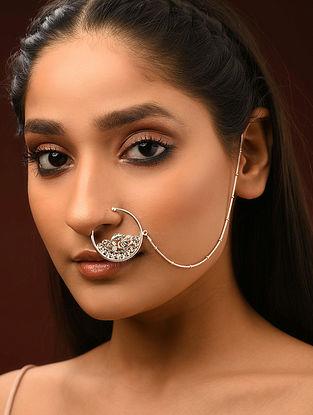 Classic Silver Patra Work Nath