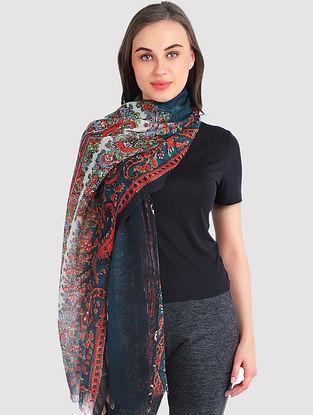 Multicolored Silk Cashmere Scarf