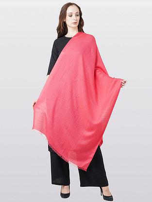 Pink Silk Wool Scarf