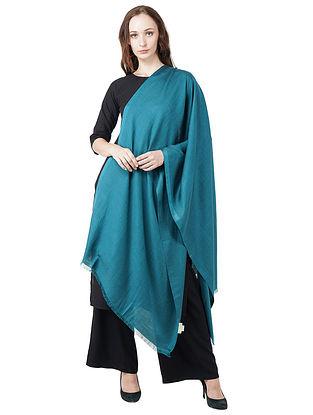 Blue Silk Wool Scarf
