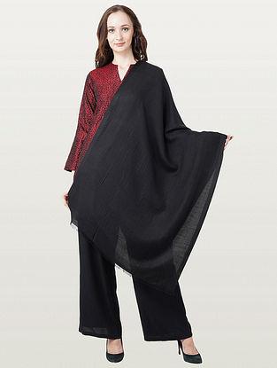 Black Silk Wool Scarf
