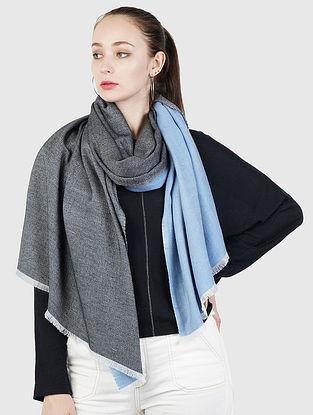 Grey-Blue Reversible Pashmina Shawl