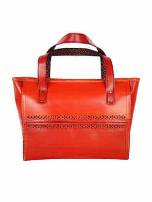 Brown Genuine Leather Tote Bag