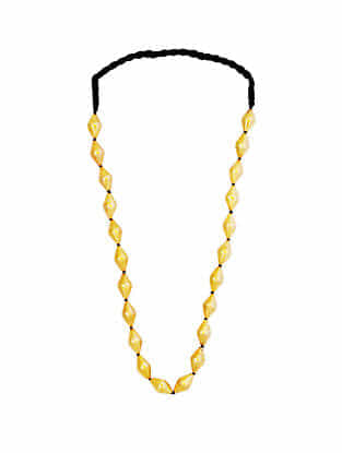 Gold Plated Sterling Silver Dholki Beaded Necklace