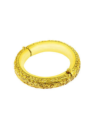 Gold Plated Sterling Silver Bangle (Size: 2/4)