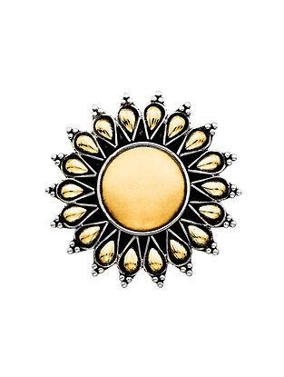 Gold Foil Sterling Silver Adjustable Ring