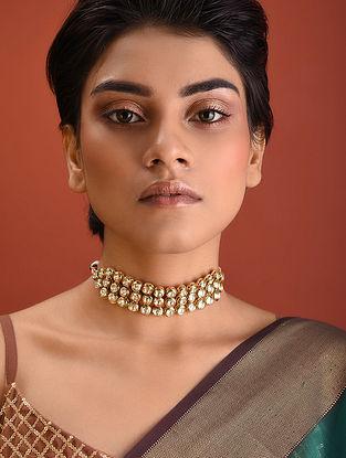 Gold Tone Kundan Necklace