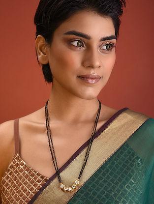 Black Gold Tone Kundan Mangalsutra Necklace