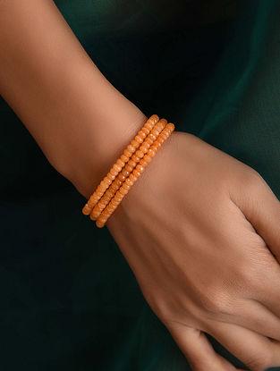 Orange Onyx Beaded Bracelet