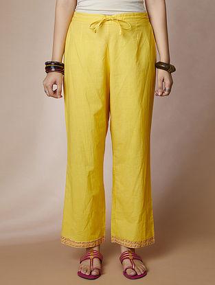 Yellow Cotton Pants
