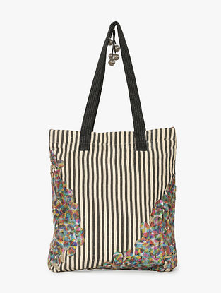 Multicolored Handcrafted Linen Tote Bag