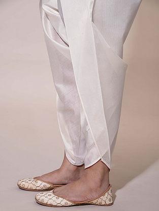 Ivory Tie-Up Chanderi Dhoti Pants