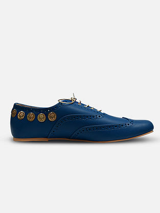 Cobalt Blue Handcrafted Leather Shoes