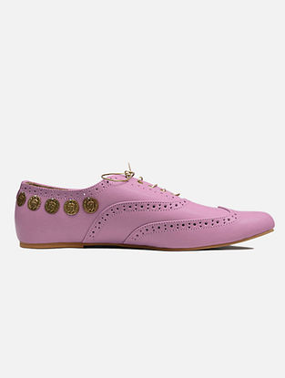 Baby Pink Handcrafted Leather Shoes