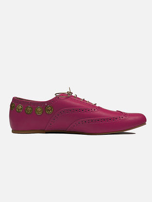 Hot Pink Handcrafted Leather Shoes