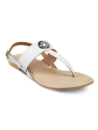 White Handcrafted Sandals