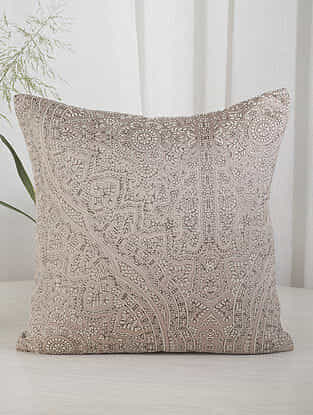 Beige and Iceberg Green Cushion Cover (16in x 16in)