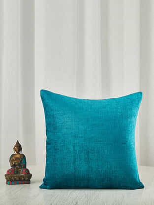 Sapphire Chenille Cushion Cover (18in x 18in)
