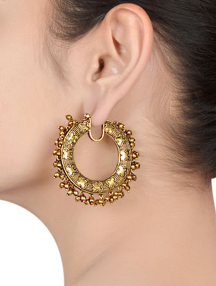 Gold Plated Silver Hoop Earrings