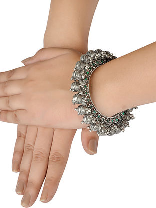 Tribal Silver Bangle (Size: 2/2)