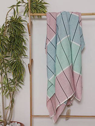 Multicolor Handwoven Cotton Throw (100in x 57in)
