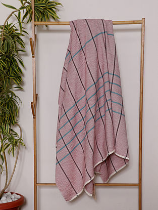 Peach Handwoven Cotton Throw (100in x 57in)