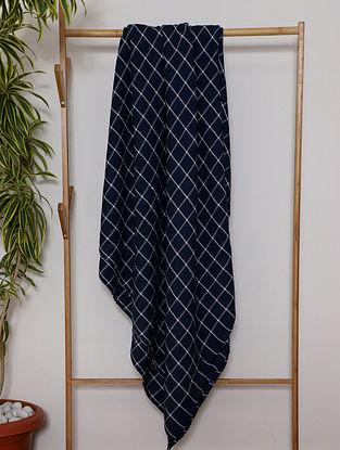 Indigo Blue Handwoven Cotton Throw (100in x 48in)