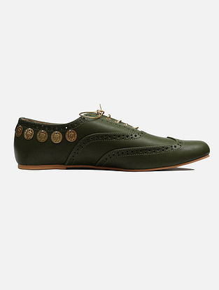 Olive Green Handcrafted Leather Shoes