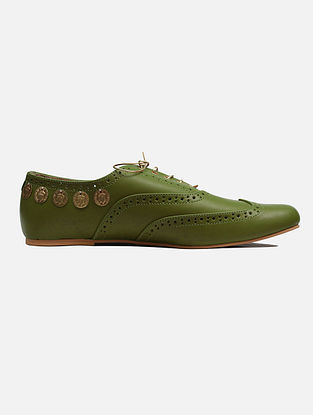 Pear Green Handcrafted Leather Shoes