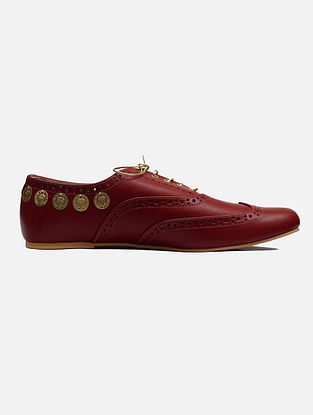 Maroon Handcrafted Leather Shoes