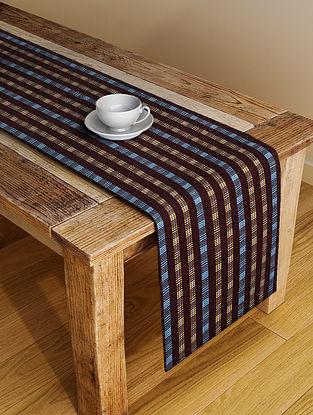 Multicolor Handloom Cotton Table Runner (72in x 19in)