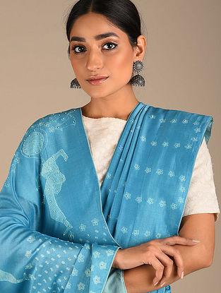 Blue Shibori Chanderi Saree