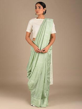 Green Shibori Chanderi Saree