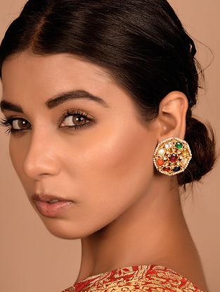 Navratna Gold Earrings