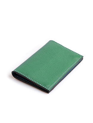 Green Handcrafted Genuine Leather Card Case