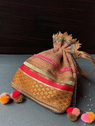 Multicolored Handcrafted Jute Potli