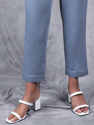 Kanchan Grey Mul Pants