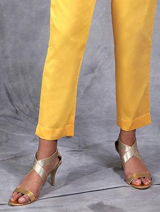 Kiran Mustard Mul Pants