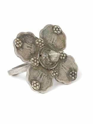 Silver Tone Tribal Adjustable Ring