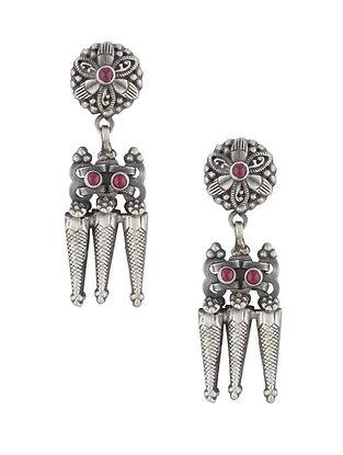 Red Sterling Silver Earrings